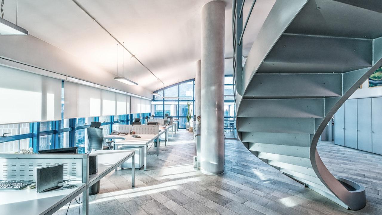 modern ofis mobilyaları, gri döşenmiş modern ofis
