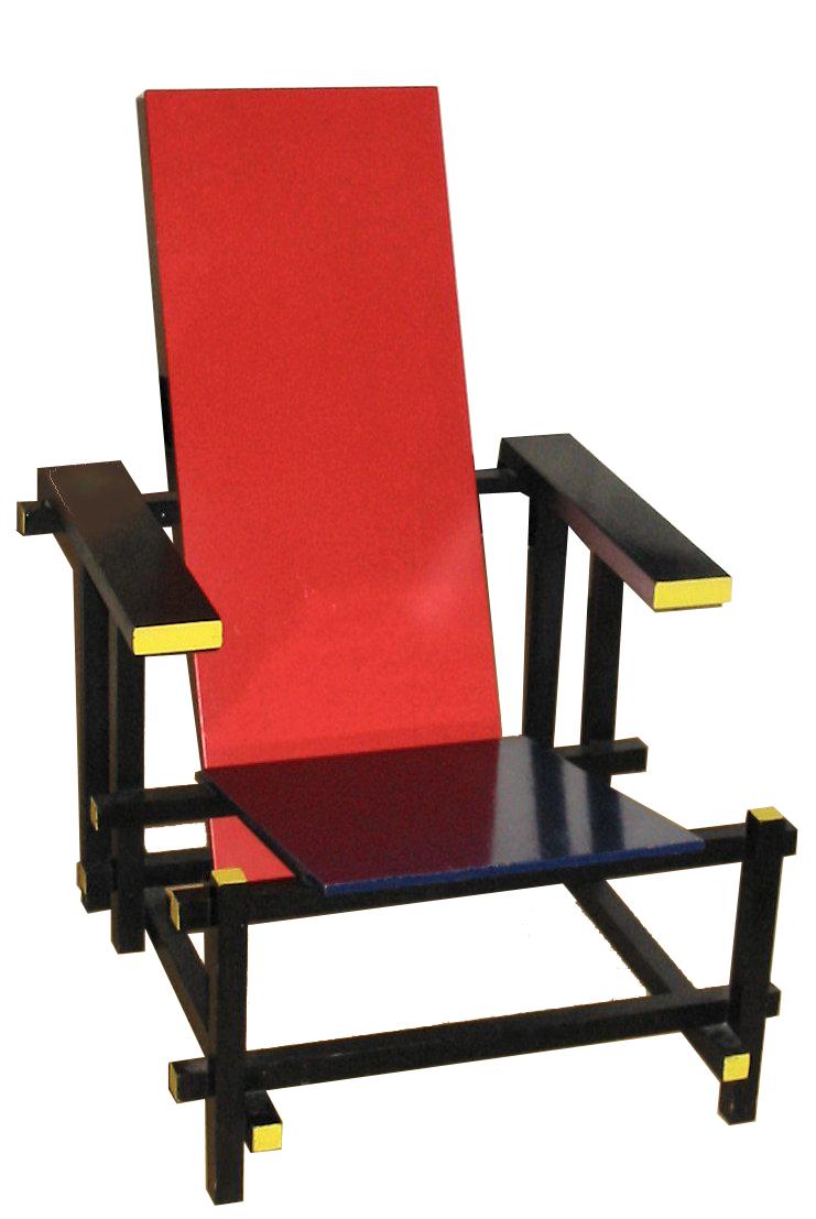 Basit ve İkonik: Kırmızı ve Mavi Sandalye